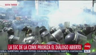 FOTO: SSC CDMX Favor Diálogo, Policías Federales AICM