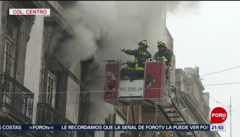 FOTO: Suman 18 horas de incendio en bodega del Centro Histórico de CDMX, 15 noviembre 2019