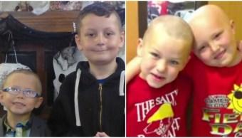 Niño se rapa para apoyar a su amigo con cáncer en colegio