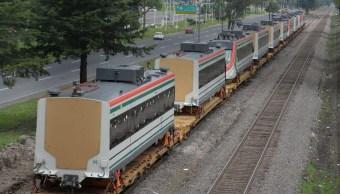 Vagones del Tren Interurbano México-Toluca.