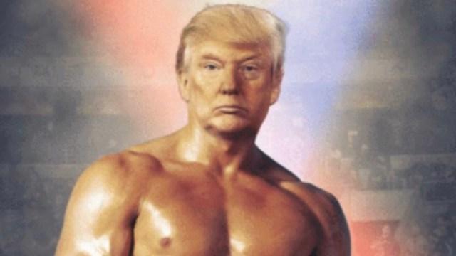 Foto: Trump se ve como Rocky Balboa, tras publicación de datos económicos