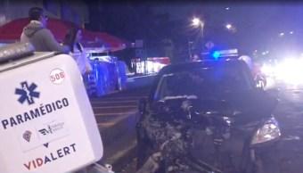 Foto: Varios accidentes durante la madrugada del lunes en CDMX