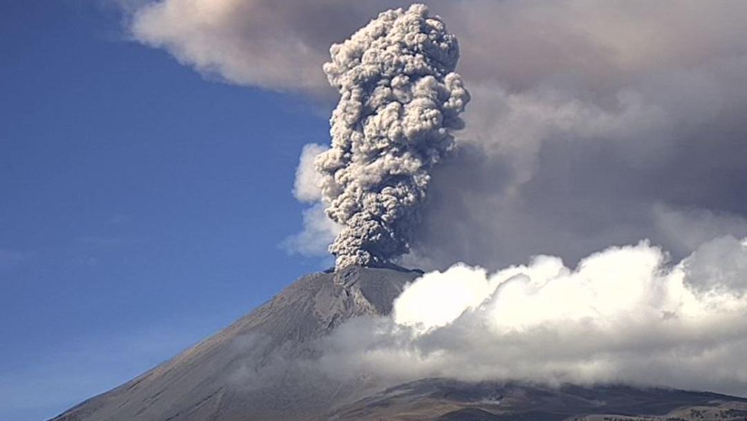 Foto: El Popocatépetl registra intensa actividad volcánica este sábado, 9 noviembre 2019