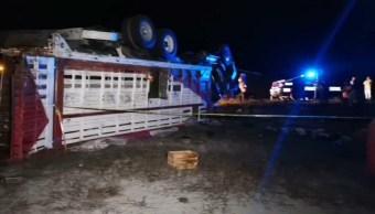 Foto Vuelca camión con peregrinos en Puebla; hay al menos 20 lesionados, 17 de noviembre de 2019, (Noticieros Televisa)