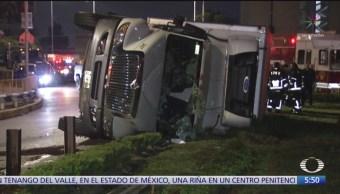 Foto: Vuelca Camión Carga Peñón Baños CDMX