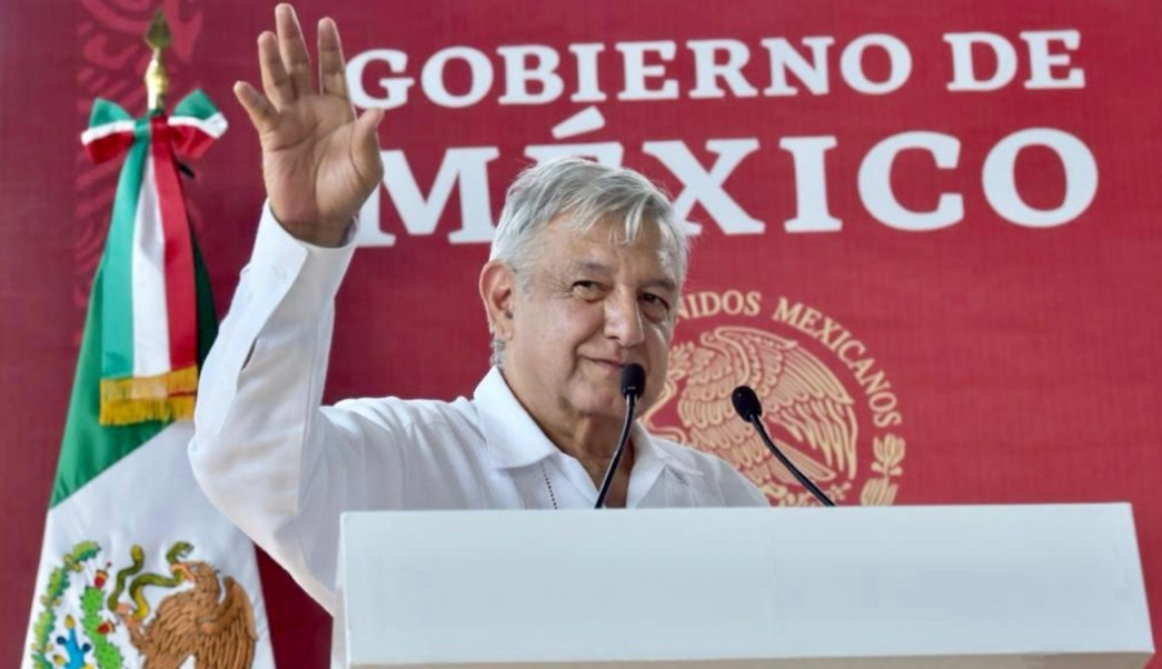 Foto: AMLO durante diálogo en Yucatán, 8 de noviembre de 2019, (Presidencia)