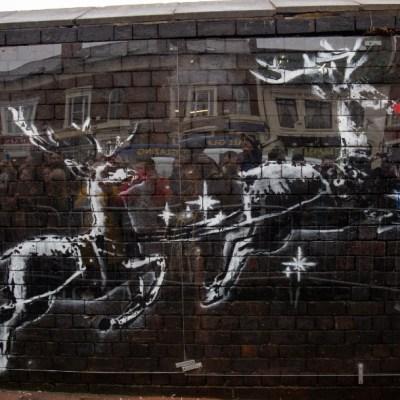 Navidad para personas sin hogar, el nuevo mural de Banksy