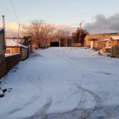 Continúa intenso frío y caída de nieve en Sonora