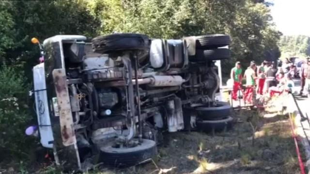 Foto: Accidente en Chiapas deja 17 peregrinos lesionados, 1 de diciembre de 2019, (Noticieros Televisa)
