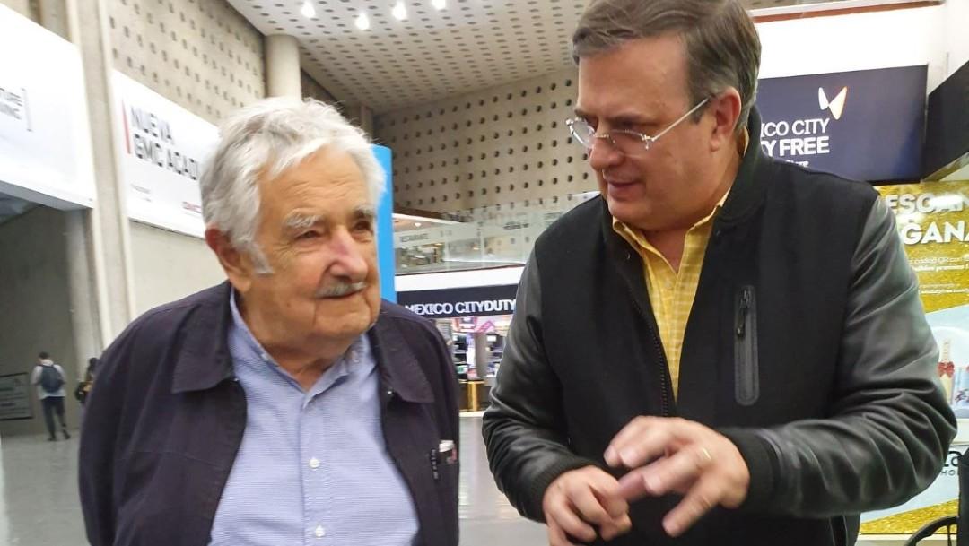 Foto: El canciller aseguró que la presencia del político uruguayo es con motivo del primer informe de gobierno del presidente Andrés Manuel López Obrador