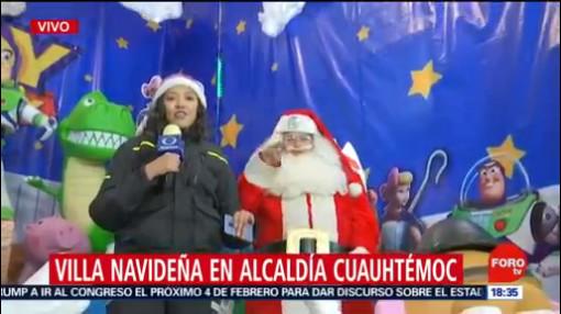 FOTO: 20 diciembre 2019,alcaldia cuauhtemoc invita a disfrutar de villa navidena