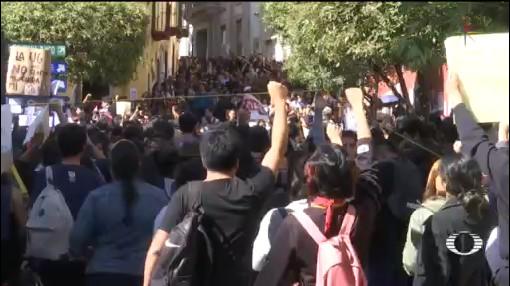 Foto: Alumnos Universidad Guanajuato Protestas Feminicidio Ana Daniela 5 Diciembre 2019V
