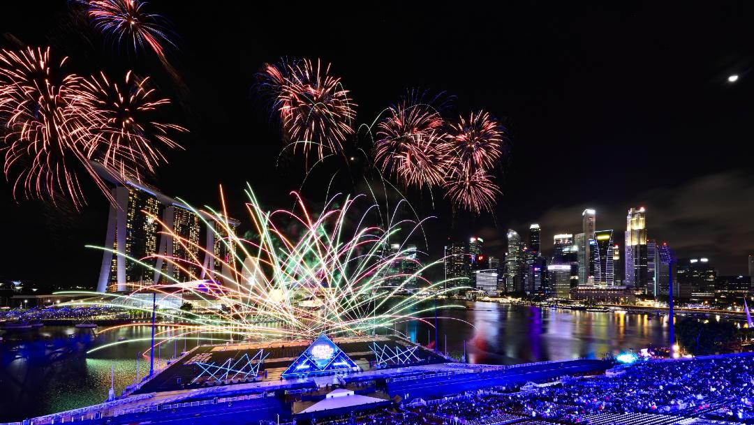 FOTO Llega el año nuevo 2020 a Singapur (Getty Images)