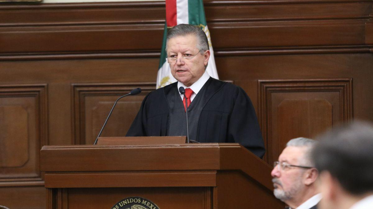 Ministro Arturo Zaldívar, el 29 de diciembre de 2019