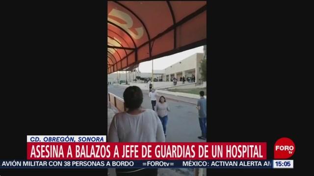 FOTO: Video Asesinan Balazos Jefe Guardias Clínica IMSS Sonora