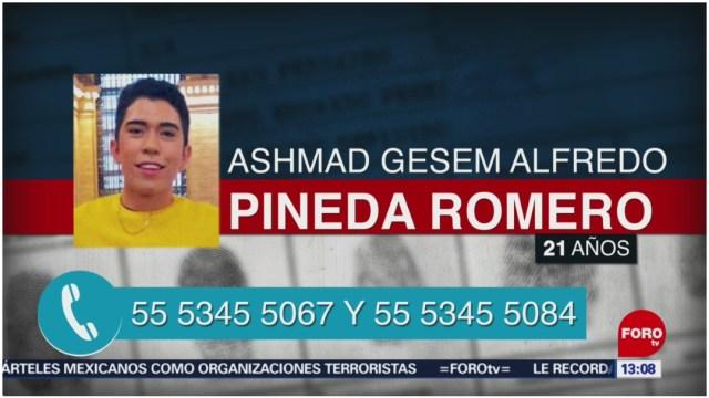 Foto: Localizan a Ashmad Gesem Alfredo Pineda Romero, 8 de diciembre de 2019 (Foro TV)