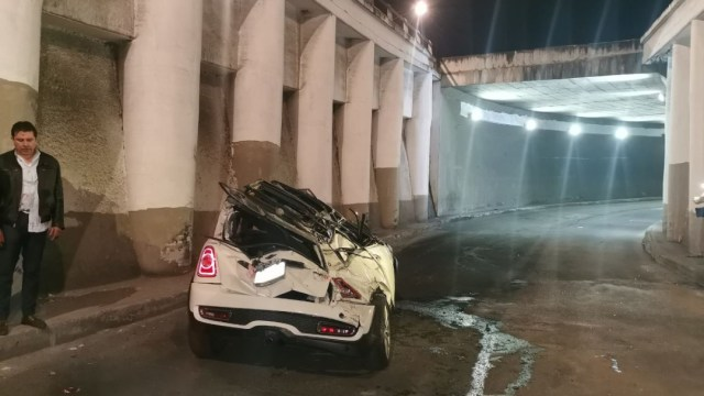 Foto: La madrugada de este sábado un automóvil tuvo un accidente sobre Rómulo O'farril, 7 diciembre 2019