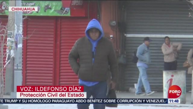 FOTO: Chihuahua registra temperaturas de siete grados bajo cero, 14 diciembre 2019