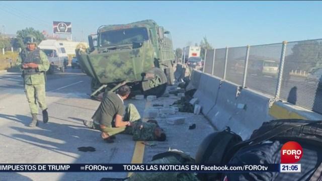 FOTO: Choca camión de la Sedena en la Puebla-Córdoba, 14 diciembre 2019
