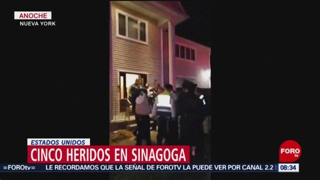 cinco heridos en sinagoga en nueva york estados unidos