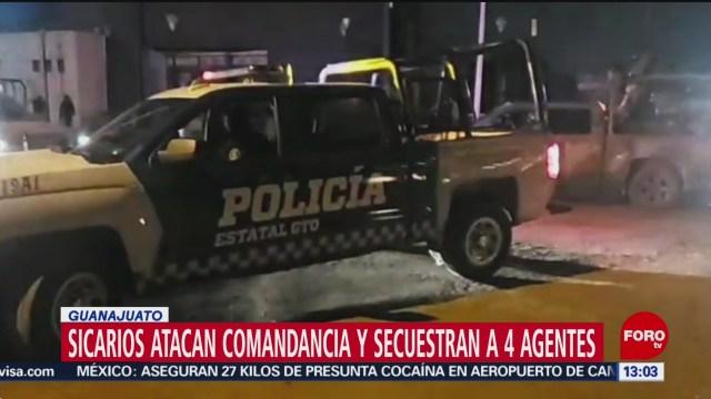 FOTO: Comando armado secuestra asesina policías Villagrán Guanajuato