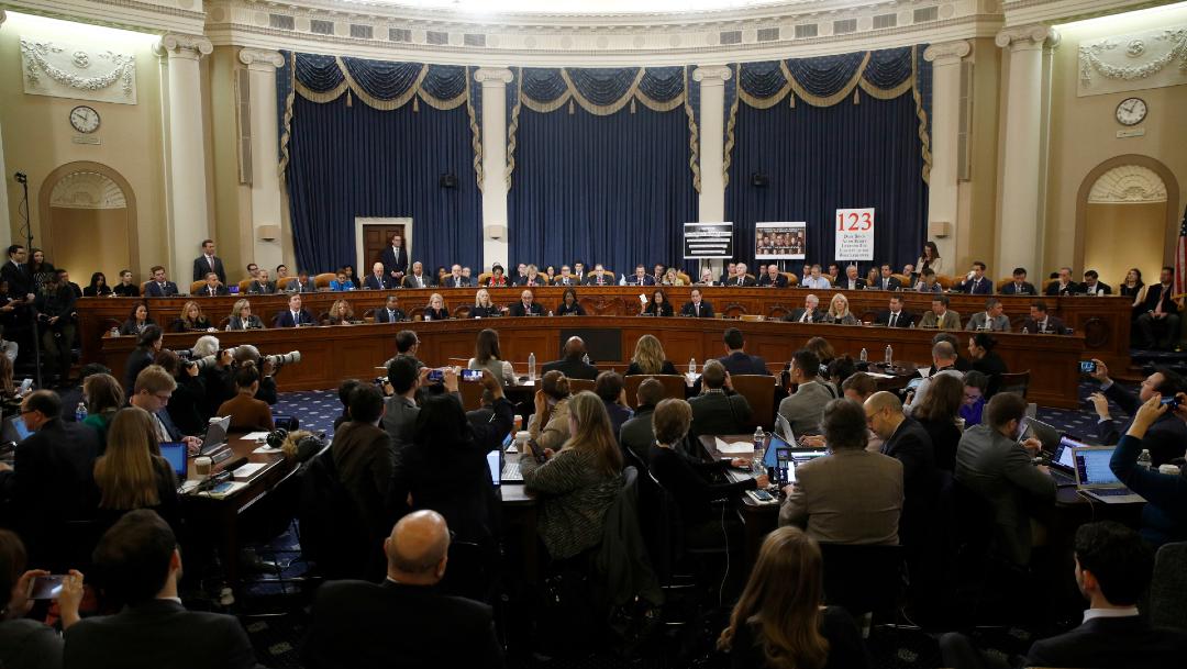 FOTO Comité Judicial del Congreso EEUU aprueba cargos contra Trump, voto pasa al pleno (AP)