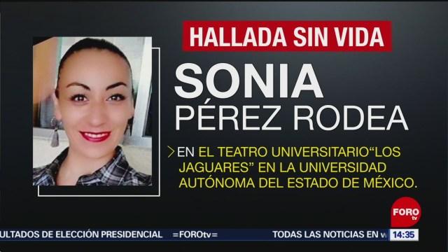 FOTO: Confirman Detención Esposo Maestra Danza Asesinada UAEM