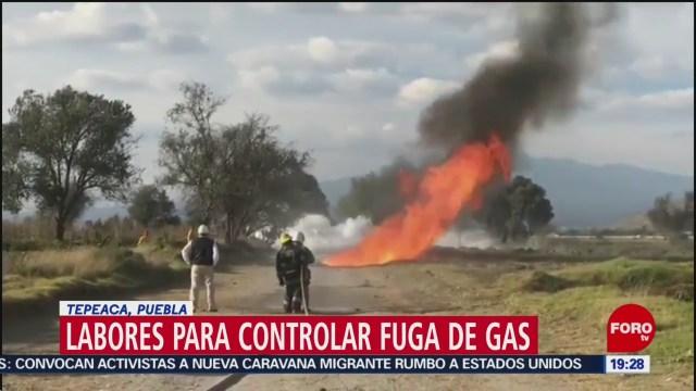 Foto: Fuga Gas Tepeaca Continúan Labores Control 29 Diciembre 2019