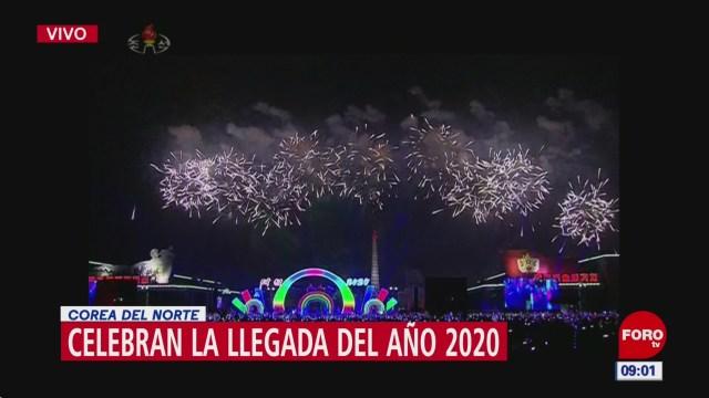 Foto: corea del norte recibe el ano nuevo 2020 con luces y pirotecnia