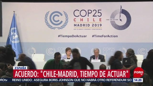 FOTO: Decepción por resultados COP25, 15 diciembre 2019