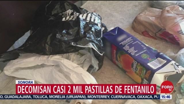 FOTO: 21 diciembre 2019, decomisan casi 2 mil pastillas de fentanilo en sonora