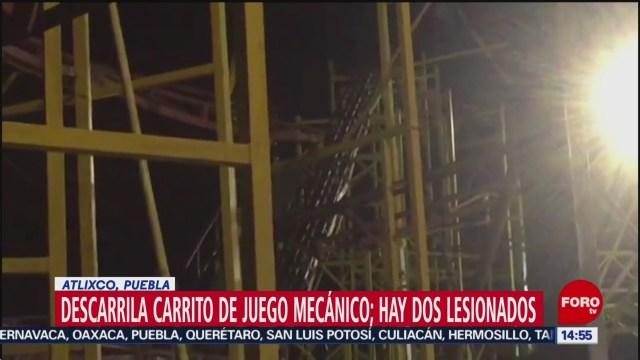 Foto: Descarrila Carrito Juego Mecánico Atlixco Puebla 26 Diciembre 2019