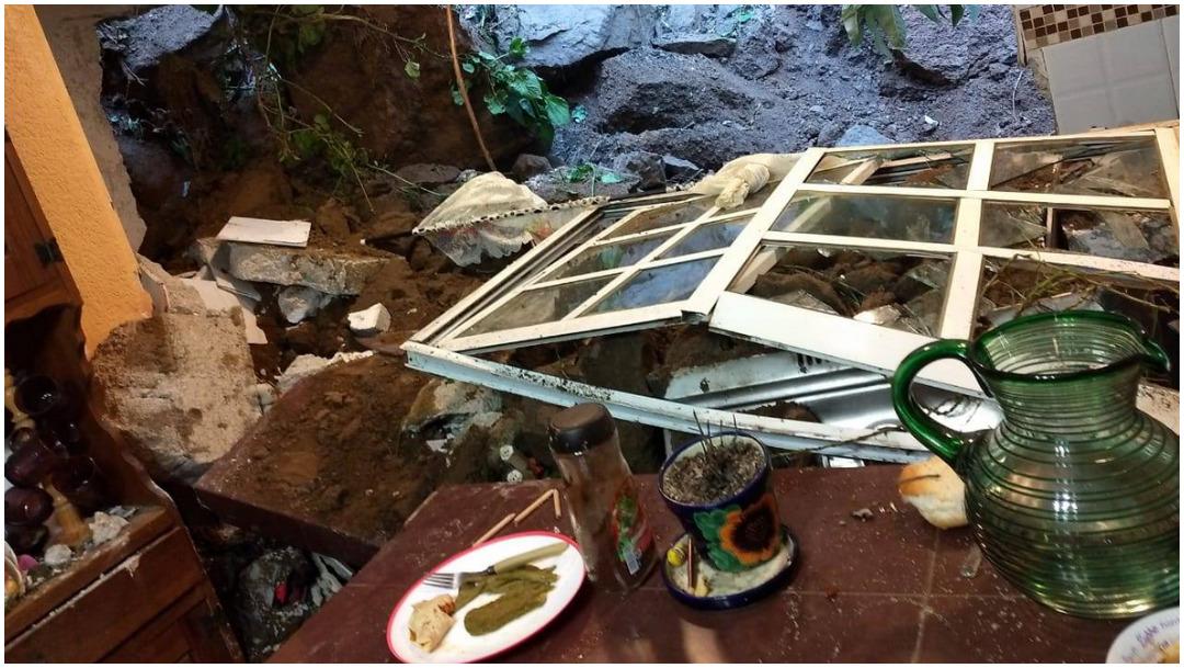 Foto: Deslave afecta viviendas en Álvaro Obregón, no hay lesionados, 7 de diciembre de 2019 (Twitter Álvaro Obregón)
