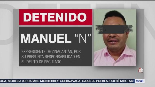 FOTO: 21 diciembre 2019, detienen a expresidente municipal de zinacantan