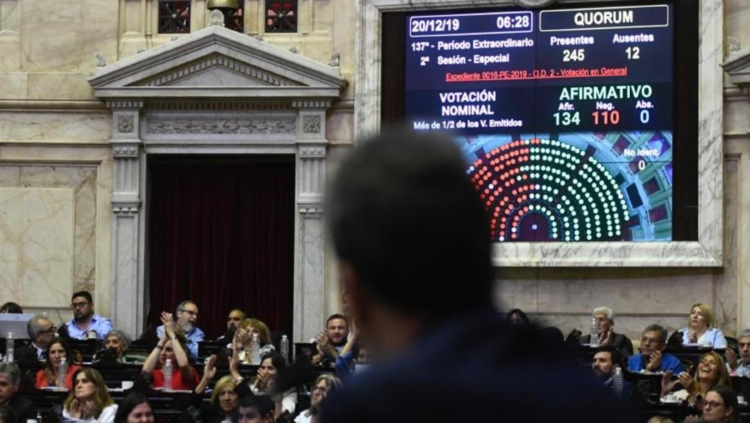 Foto: Diputados de Argentina aprueban ley de emergencia económica