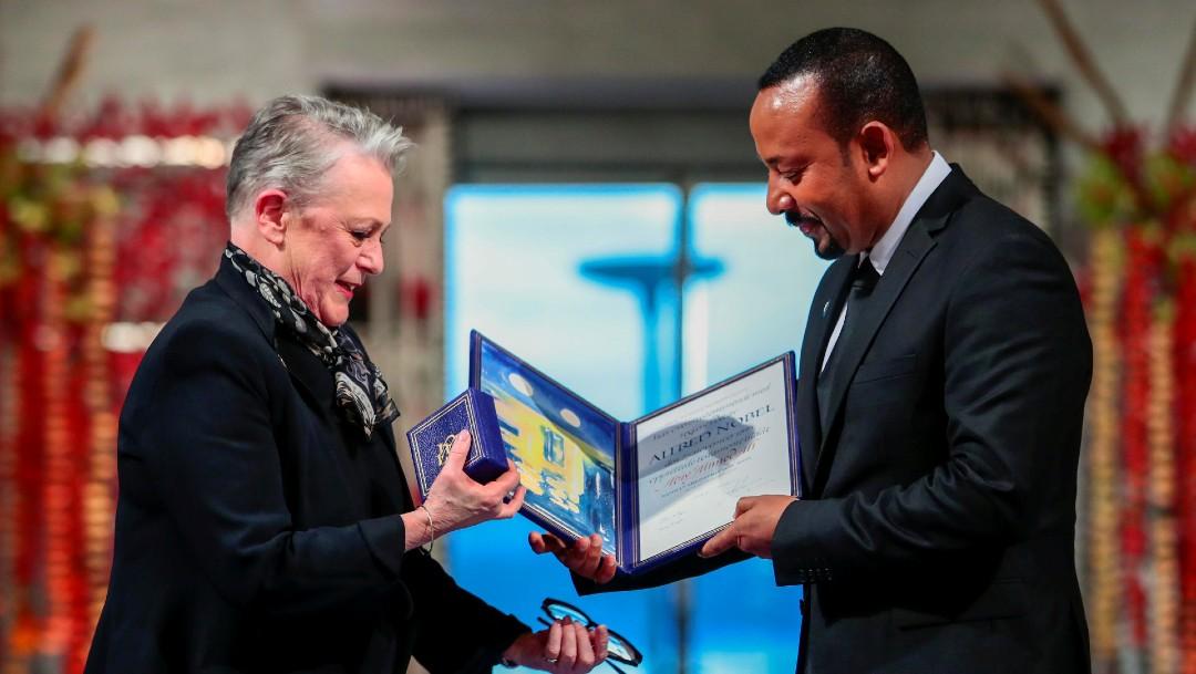 Foto: El primer ministro de Etiopía recibe el Nobel de la Paz