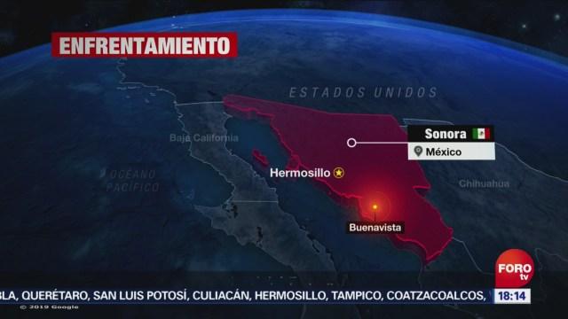 FOTO: Elementos de la Guardia Nacional repelen ataque en Sonora, 14 diciembre 2019