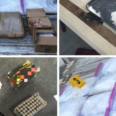 Foto: Detienen a cinco hombres con drogas y armas en Jalisco, 14 de diciembre de 2019 (FGR)