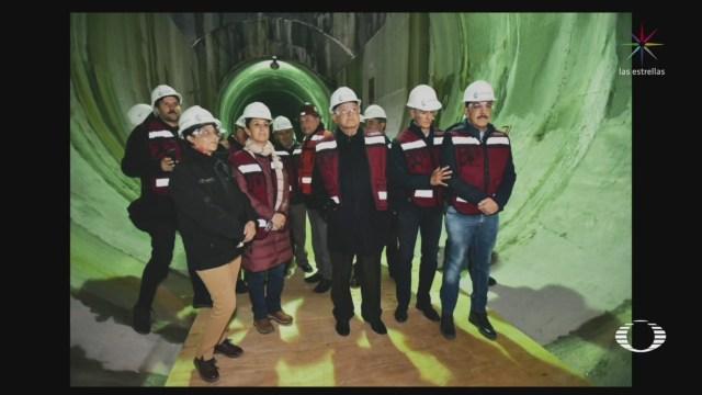 Foto: Túnel Emisor Oriente Marcha Operaciones AMLO 23 Diciembre 2019