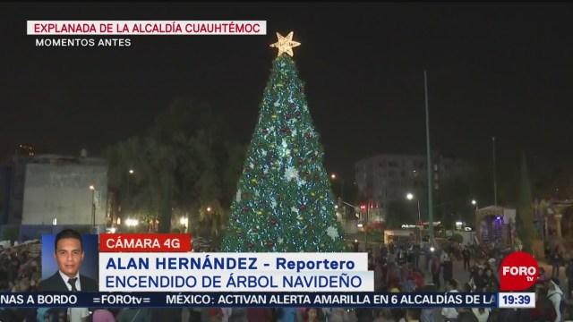 Foto: Encienden Árbol Navidad Monumental Alcaldía Cuauhtémoc 12 Diciembre 2019