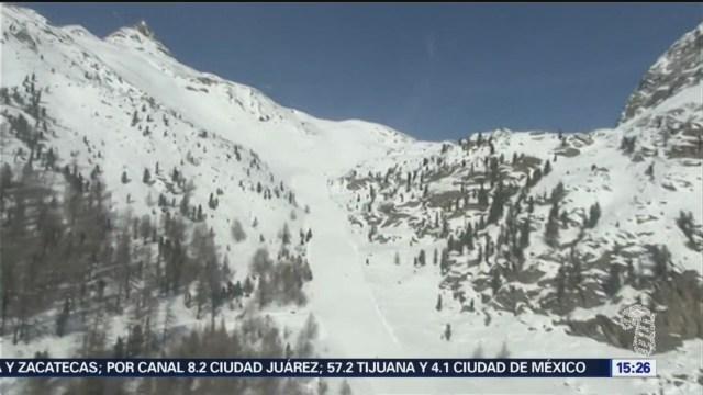fallecen cuatro personas tras dos avalanchas en italia