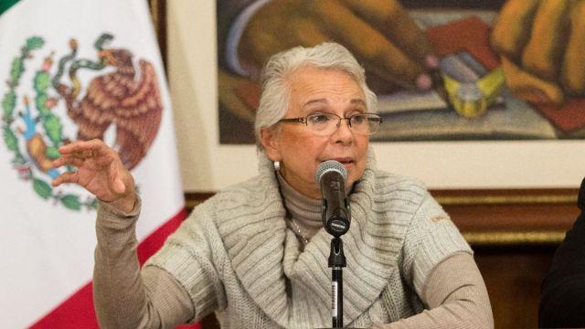 Foto: Olga Sánchez Cordero, secretaria de Gobernación. Cuartoscuro