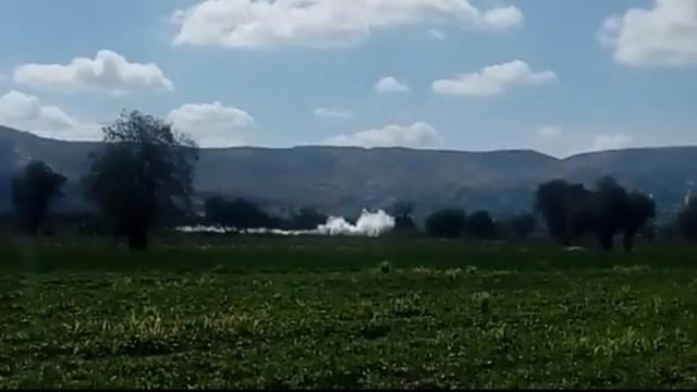 Foto: Se registra unafuga de gas LP en Tepeaca, Puebla.