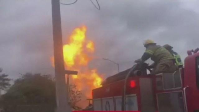 En Reynosa, Tamaulipas, se reporta una fuga en un gasoducto en el Boulevard Colosio.