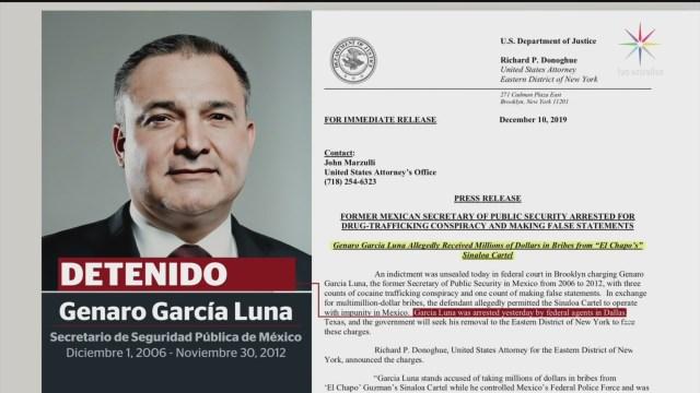 Foto: García Luna Detenido Podría Cadena Perpetua 10 Diciembre 2019