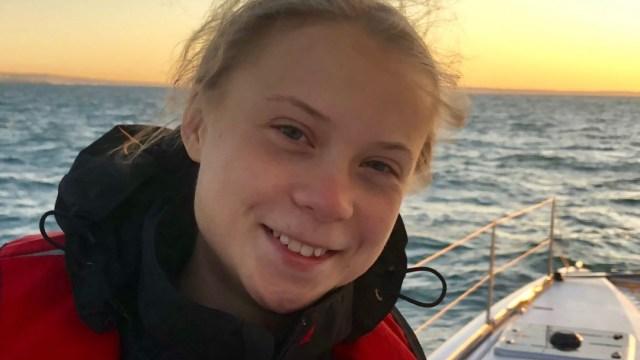 Fotografía de la activista Greta Thunberg, 12 diciembre 2019