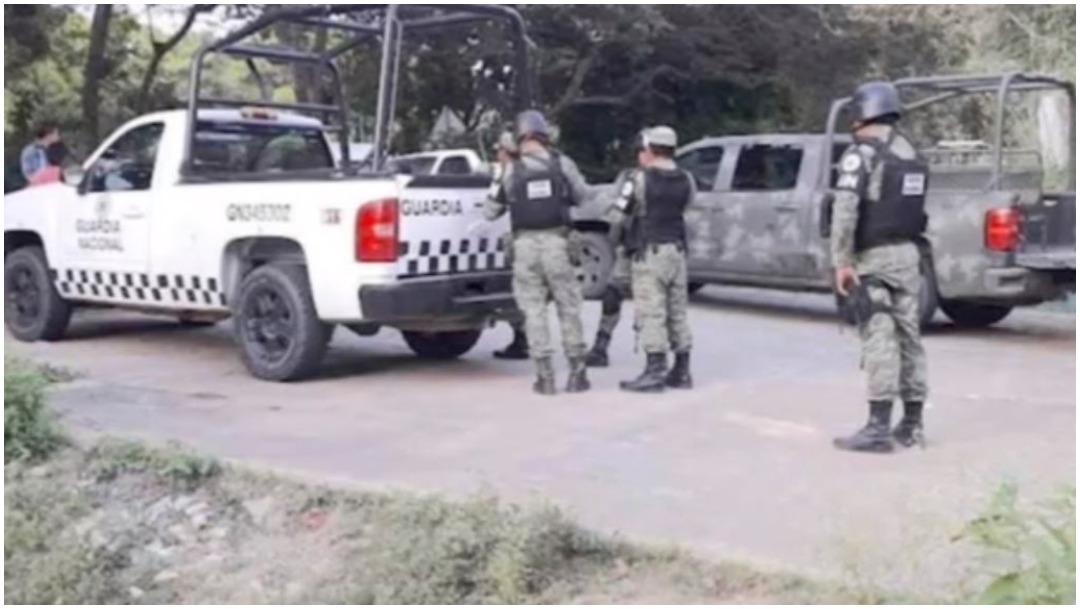 Foto: Miembros de la Guardia Nacional pasaron más de 30 horas retenidos en Guerrero, 7 de diciembre de 2019 (Foro TV)