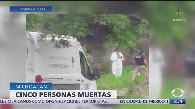 Hallan cinco cuerpos en Tocumbo, Michoacán
