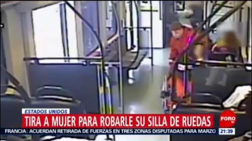 Foto: Hombre Tira Mujer Robarle Silla De Ruedas 9 Diciembre 2019