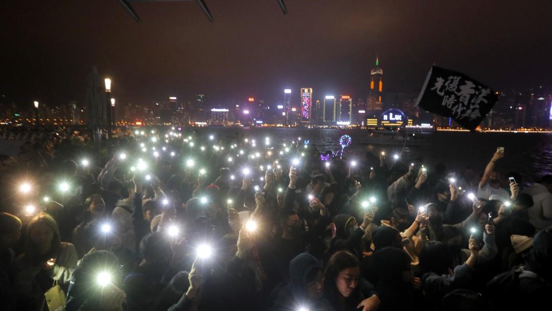 FOTO Protesta en Hong Kong en vísperas del Año Nuevo 2020 (EFE)